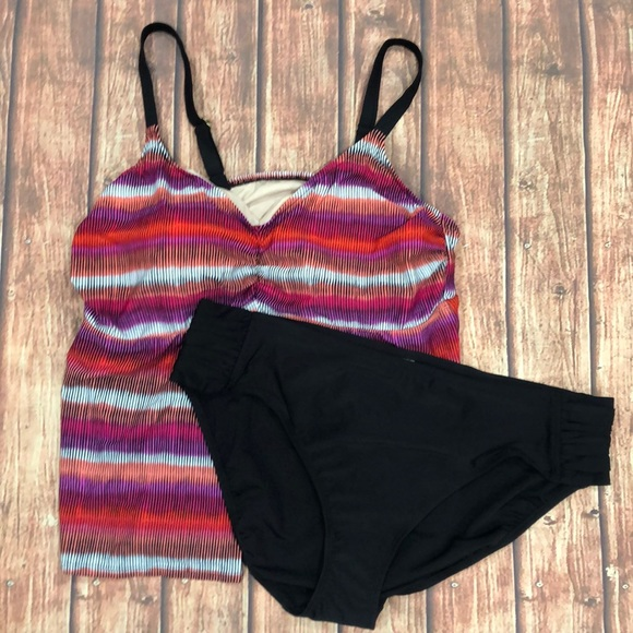 853976a419 Ava & Viv Swim | Ava Viv Tankini Set Target Pink Black 24w Nwot ...